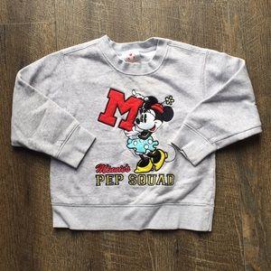 Disney minney mouse appliqué sweatshirt sz xxs 2/3